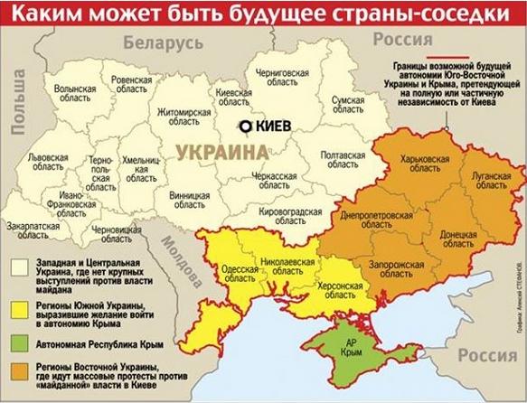 Ukraine-Aufteilung